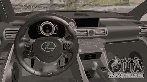 Lexus IS350 FSport 2014 Hellaflush for GTA San Andreas right view