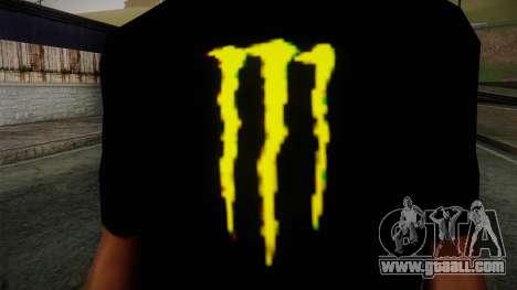 Monster Ripper Shirt Black for GTA San Andreas third screenshot
