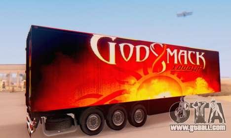 Godsmack - 1000hp Trailer 2014 for GTA San Andreas back left view