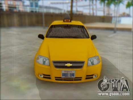 Chevrolet Aveo Taxi for GTA San Andreas back left view