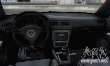 Volkswagen Golf MK4 R32 for GTA San Andreas bottom view