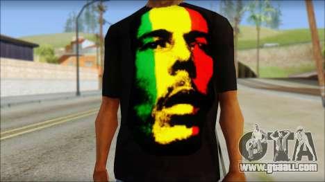 Bob Marley T-Shirt for GTA San Andreas third screenshot