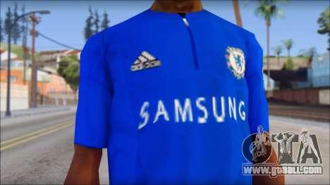 Chelsea F.C Drogba 11 T-Shirt for GTA San Andreas third screenshot