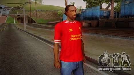 Liverpool FC 13-14 Kit T-Shirt for GTA San Andreas
