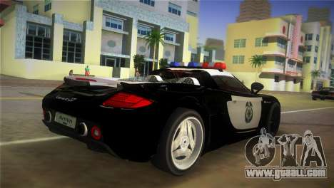 Porsche Carrera GT Police for GTA Vice City left view