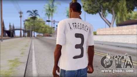 A.Friedrich Trikot T-Shirt for GTA San Andreas second screenshot