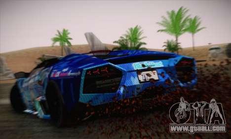 Lamborghini Reventon Black Heart Edition for GTA San Andreas left view