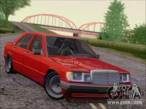 Mercedes Benz 190E Drift V8 for GTA San Andreas left view