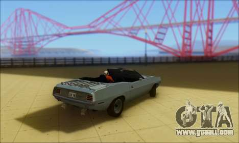 Plymouth Cuda 1970 Stock for GTA San Andreas left view