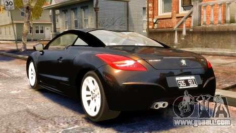 Peugeot RCZ for GTA 4 left view