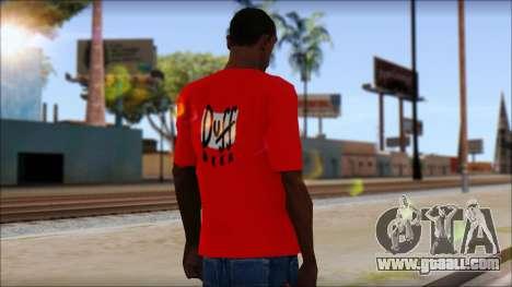 Duff T-Shirt for GTA San Andreas second screenshot