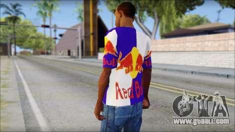 Red Bull T-Shirt for GTA San Andreas second screenshot