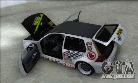 Volkswagen Golf MK4 R32 for GTA San Andreas wheels