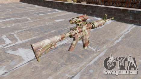 Automatic carbine MA Doll Camo for GTA 4 second screenshot