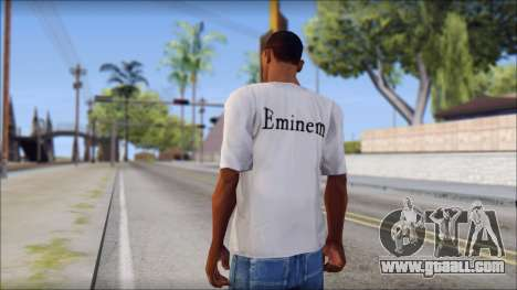 Eminem T-Shirt for GTA San Andreas second screenshot