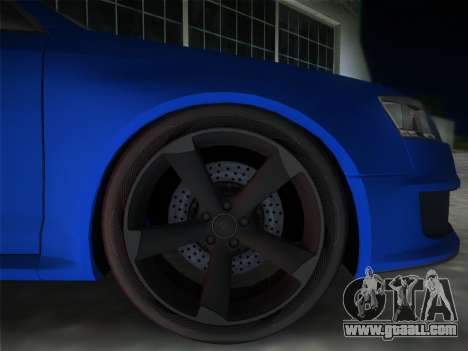 Audi RS6 for GTA Vice City back left view