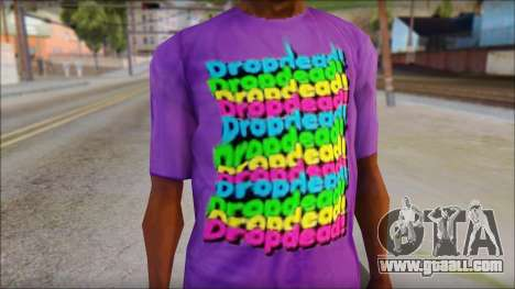 Dropdead T-Shirt for GTA San Andreas third screenshot