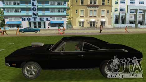 Dodge Charger RT Street Drag 1969 for GTA Vice City right view