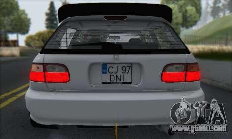 Honda Civic 1995 for GTA San Andreas interior