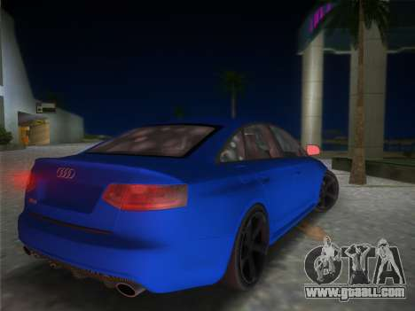 Audi RS6 for GTA Vice City left view