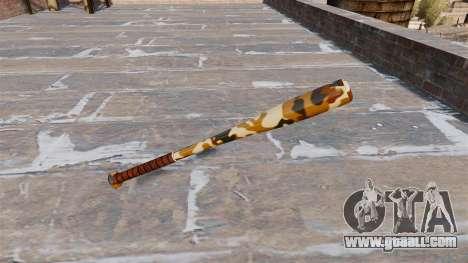 Baseball bat Camo A011 for GTA 4 second screenshot