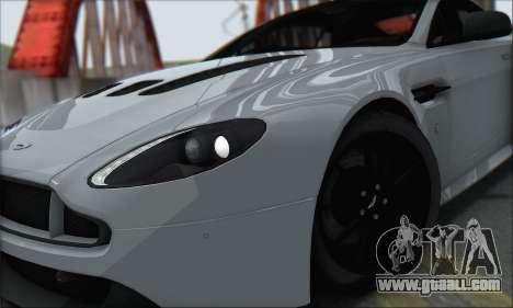 Aston Martin V12 Vantage S 2013 for GTA San Andreas right view