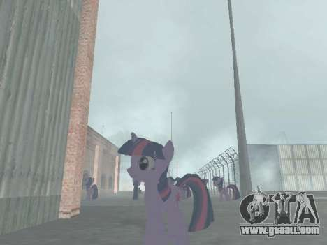 Twilight Sparkle for GTA San Andreas forth screenshot