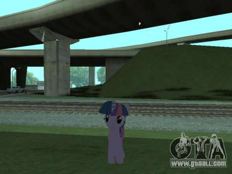 Twilight Sparkle for GTA San Andreas fifth screenshot