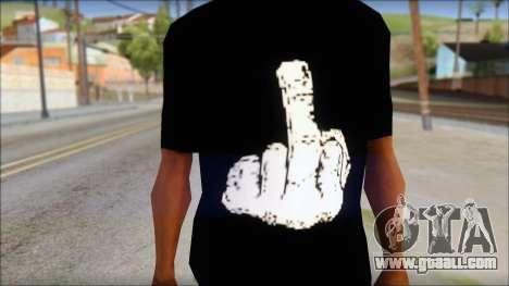Black T-Shirt wBlack T-Shirt with middle finger for GTA San Andreas third screenshot