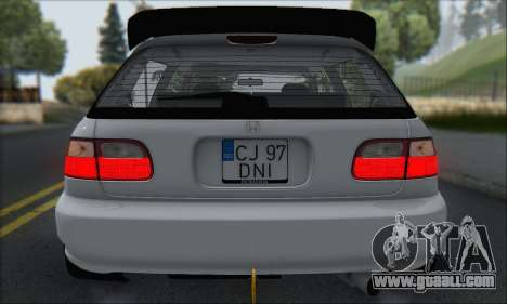 Honda Civic 1995 for GTA San Andreas wheels