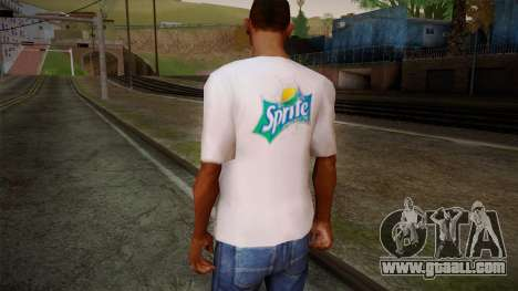 Sprite Shirt White for GTA San Andreas second screenshot