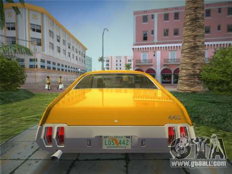 Oldsmobile 442 1970 for GTA Vice City back left view