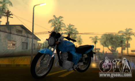 Yamaha YBR Blue Star for GTA San Andreas back left view