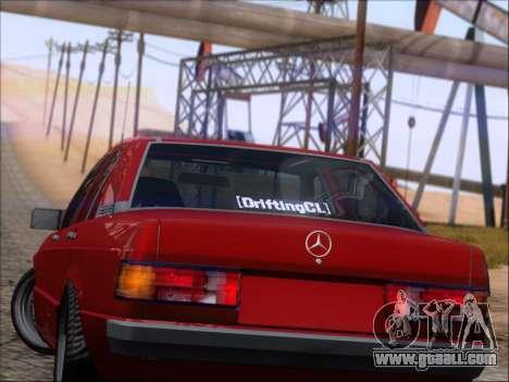 Mercedes Benz 190E Drift V8 for GTA San Andreas