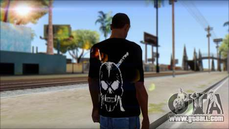 Black T-Shirt wBlack T-Shirt with middle finger for GTA San Andreas second screenshot