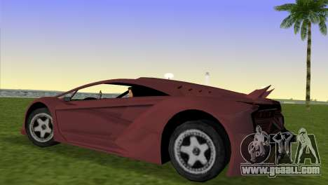 Zentorno from GTA 5 v2 for GTA Vice City left view