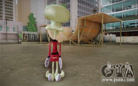 Squilliam from Sponge Bob for GTA San Andreas second screenshot