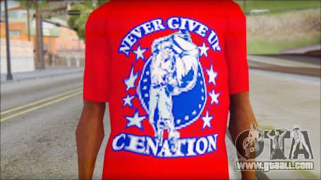 John Cena Red Attire T-Shirt for GTA San Andreas third screenshot