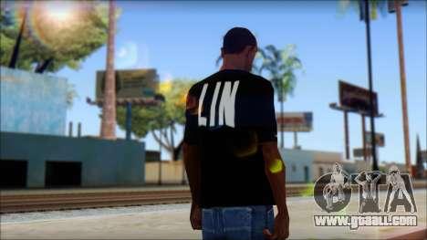 Jeremy Lin BAL-LIN T-Shirt for GTA San Andreas second screenshot