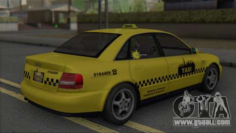 Audi A4 1.9 TDI 2000 Taxi for GTA San Andreas left view