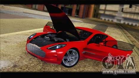 Aston Martin One-77 2010 for GTA San Andreas interior