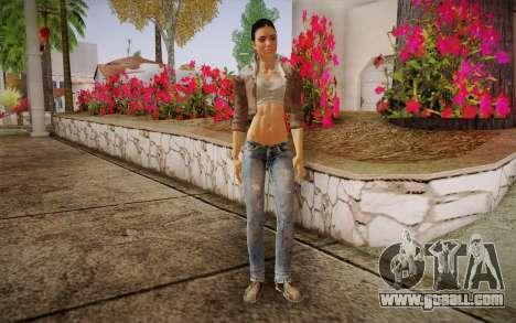 Alyx Vance CM (Adriana Lima) v.1.0 for GTA San Andreas