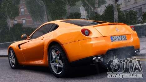 Ferrari 599 GTB Fiorano 2006 for GTA 4 left view