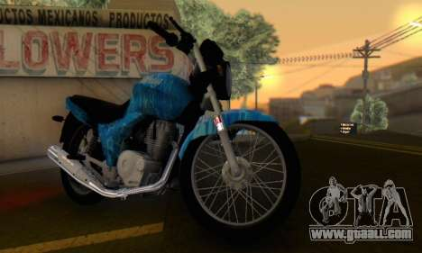 Yamaha YBR Blue Star for GTA San Andreas right view
