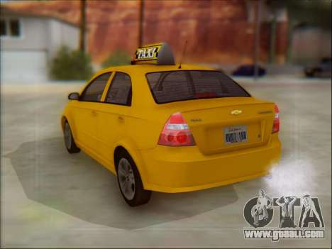 Chevrolet Aveo Taxi for GTA San Andreas back view