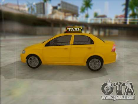 Chevrolet Aveo Taxi for GTA San Andreas right view