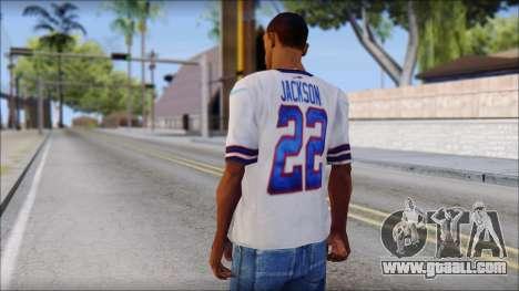 NY Buffalo Bills White for GTA San Andreas second screenshot