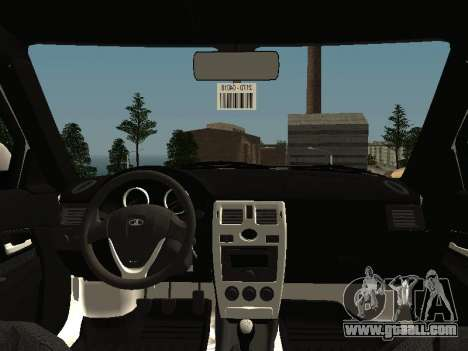 VAZ 2170 for GTA San Andreas inner view