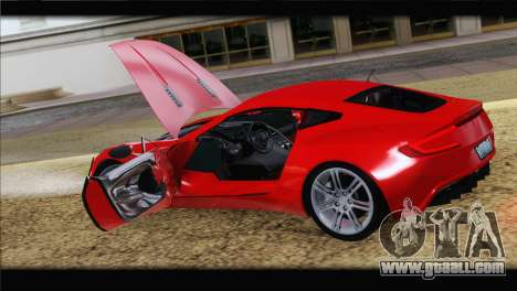Aston Martin One-77 2010 for GTA San Andreas engine