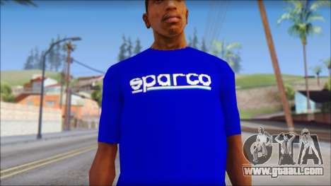 Sparco T-Shirt for GTA San Andreas third screenshot